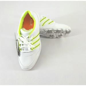Кроссовки женские для гольфа PGM. Цвет: белые с зелеными вставками ( 37)