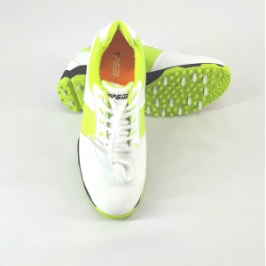 Кроссовки женские для гольфа PGM.Цвет: белые с зелеными вставками  (размер 38)