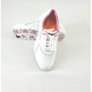 Кроссовки женские для гольфа PGM. Цвет: белые с розовыми вставками  (р - 38)