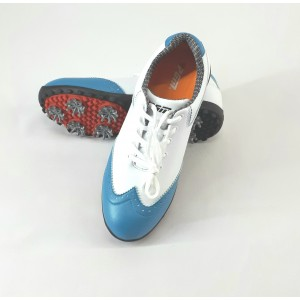 Кроссовки женские для гольфа PGM. Цвет: белые с синими вставками (р - 40)