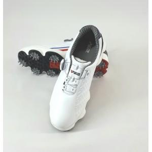Кроссовки мужские для гольфа PGM. Цвет: белые. Застежка «Fitgo» - система быстрой шнуровки