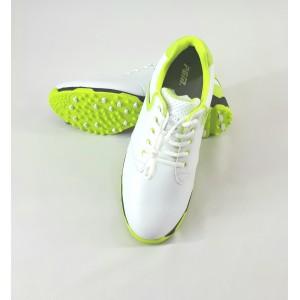 Кроссовки мужские для гольфа PGM. Цвет: белые с зелеными вставками