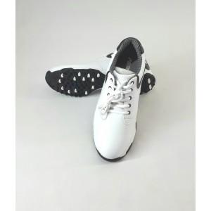 Кроссовки мужские для гольфа PGM. Цвет: белые с черными вставками